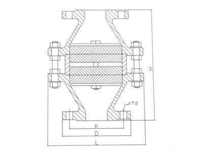 燃气阻火器结构图